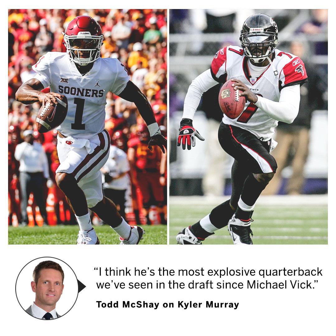 Yeah, @McShay13 thinks Kyler Murray is THAT fast. (via @GetUpESPN) https://t.co/egXSca4Ze6