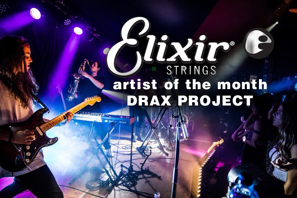 """Congratulations go out to @DraxProject, our @ElixirStrings """"artist of the month"""" for February. Stay tuned as the band drops some exclusive video clips later in the month!"""