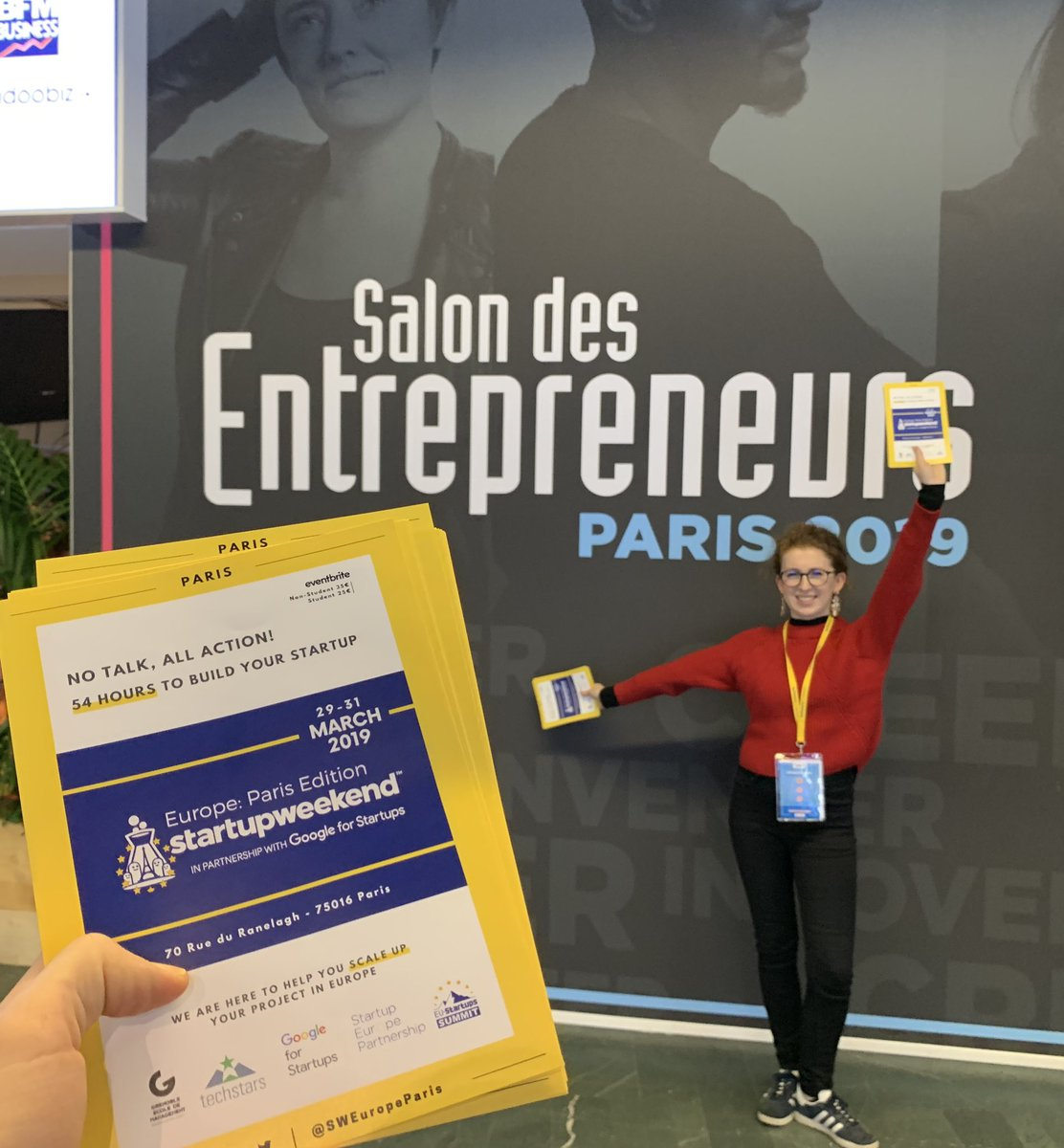 The @SWEuropeParis team was at the #SDE2019 today in #Paris ! We just launched the early birds tickets !  http:// bit.ly/SWEuEventBrite       #entrepreneur #Entrepreneurship #event #startup #innovation<br>http://pic.twitter.com/C2Ee7am67g