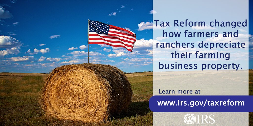 An #IRS tip for farmers and ranchers: See how #TaxReform can affect your bottom line https://t.co/h62mRW87QR