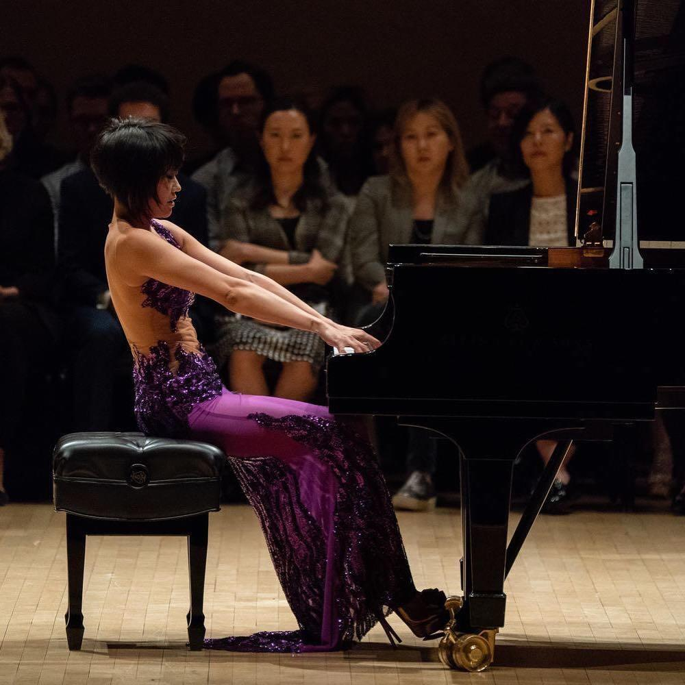 Yuja Wang plays Steinway exclusively.