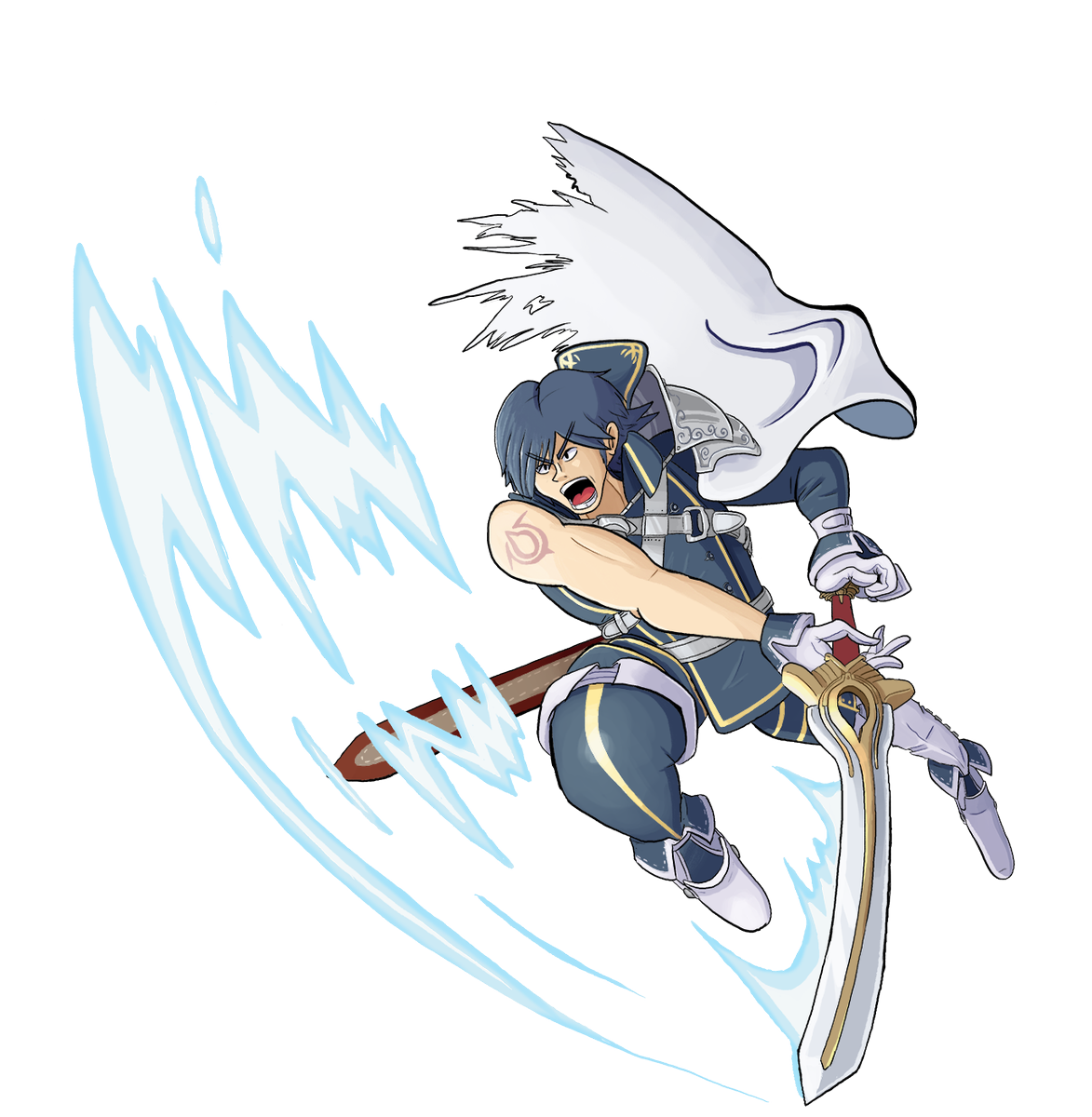 Chrom I did for a Smash Collab I was asked to be apart of. And yes, I CHOSE to do Chrom. But if you've been following long enough, that must've been pretty obvious, haha