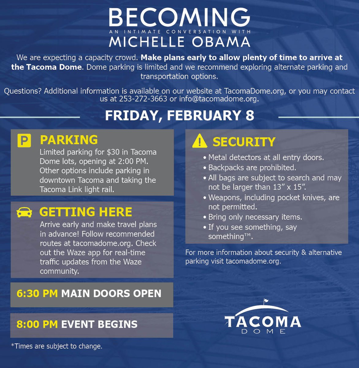 """TacomaDome ar Twitter: """"Attending Becoming: An Intimate Conversation"""