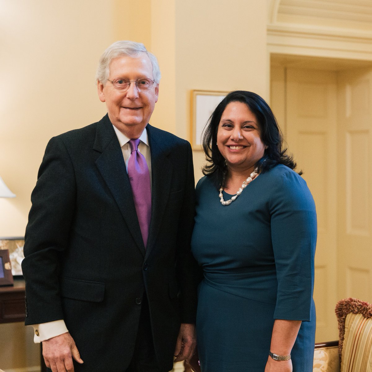 I'm glad @POTUS has nominated Neomi Rao to the DC Circuit Court Of Appeals. She has the top rating from the American Bar Association, and I'm confident she will be a fair and impartial judge on this important court.