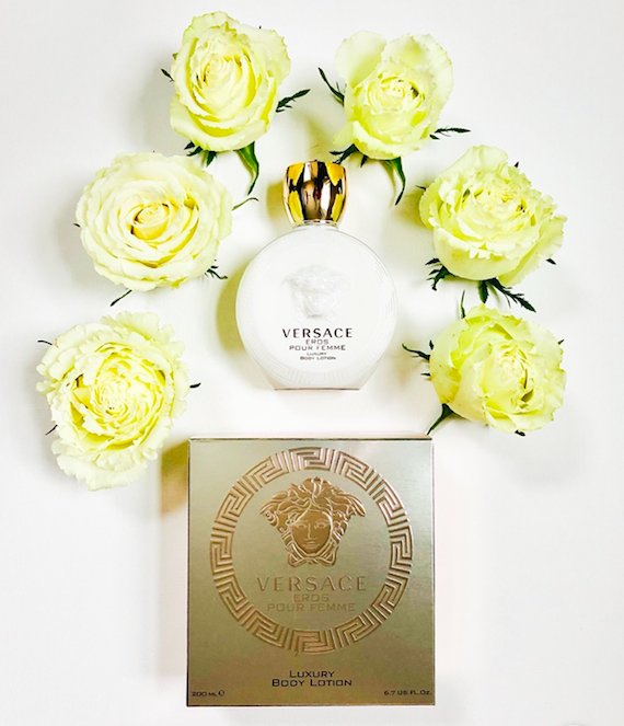 Our next #VersaceEros Twitter Party giveaway is this gorgeous Versace Eros Pour Femme Luxury Body Lotion! To enter, follow @davelackie & RT The bottle alone is so impressive. Good luck to all!