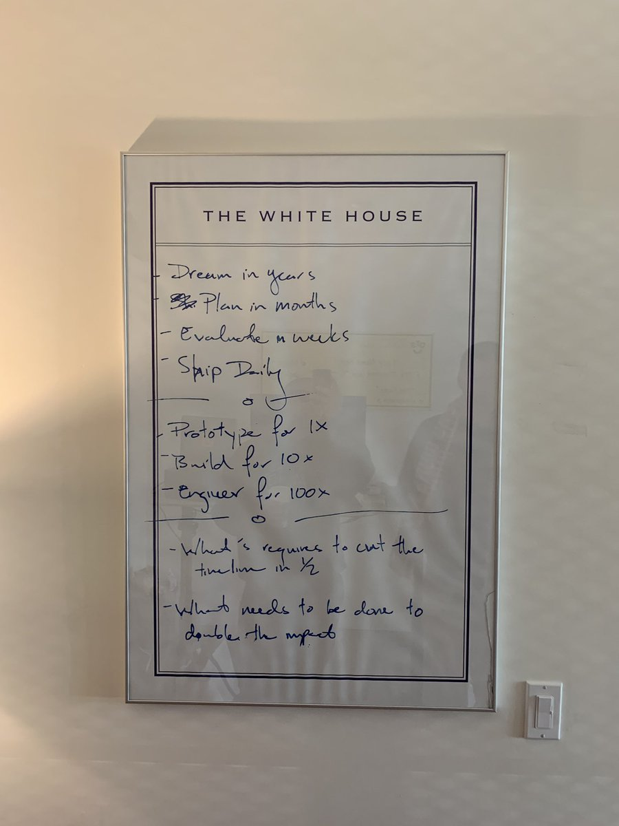My boy blew up a note left by Chief Technology Officer @dpatil of Obama White House  to poster size for his office and he doesn't even know that's art