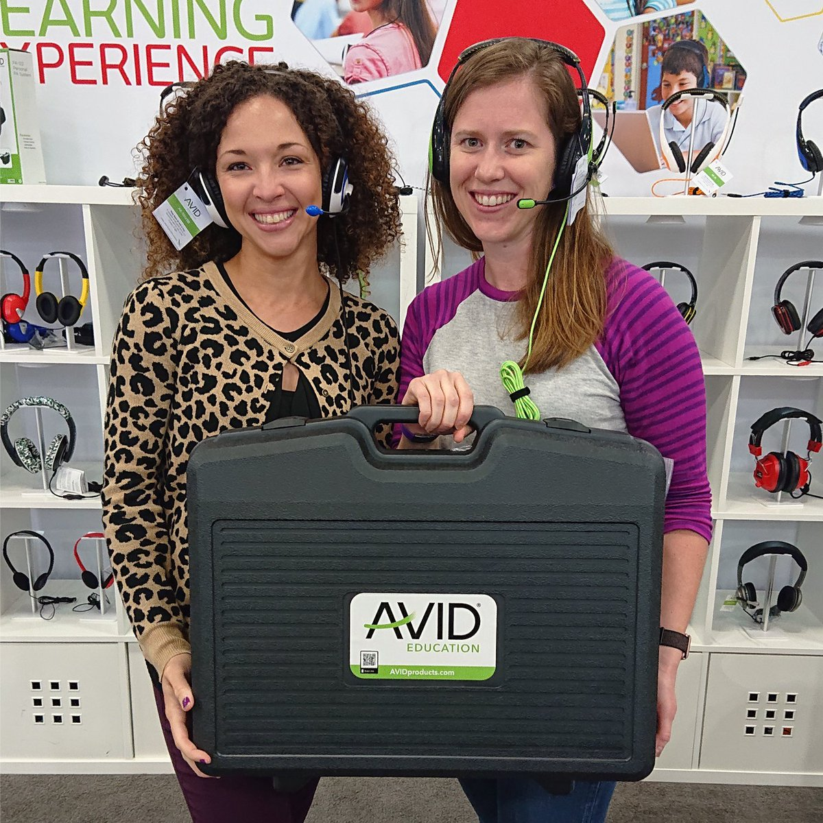 Congrats to yesterday's Class Pack winner, Carrie! Enjoy! #tcea #edtech #avideducation #avidheadphones