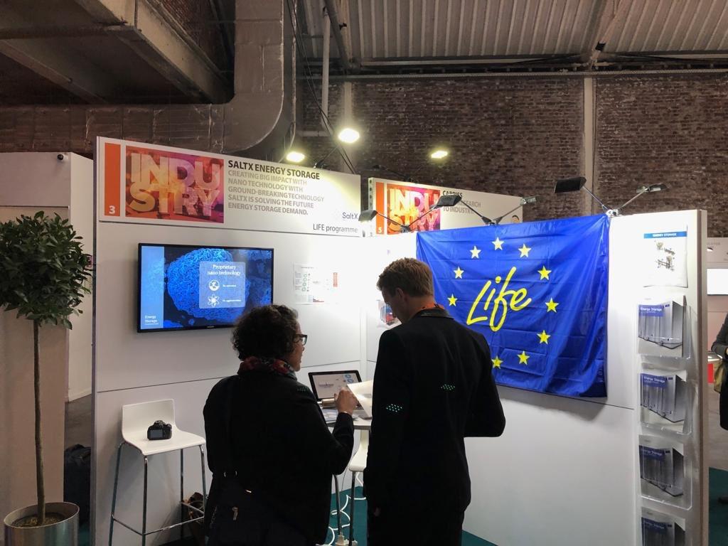 @LIFEprogramme and it's #LIFElogo at #EUIndustryDays 1