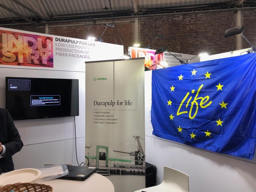 @LIFEprogramme and it's #LIFElogo at #EUIndustryDays 3