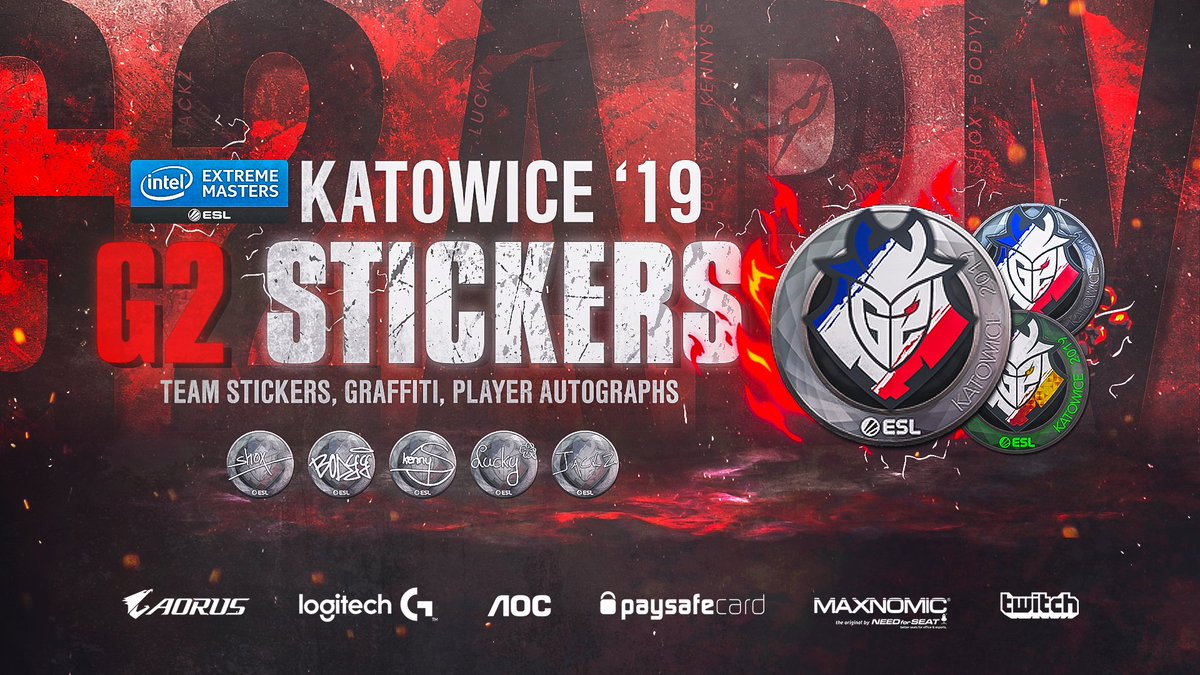 Are you ready for #IEM Katowice? Jazz up your rifle with these sweet stickers!   Which one are you getting? 🤔