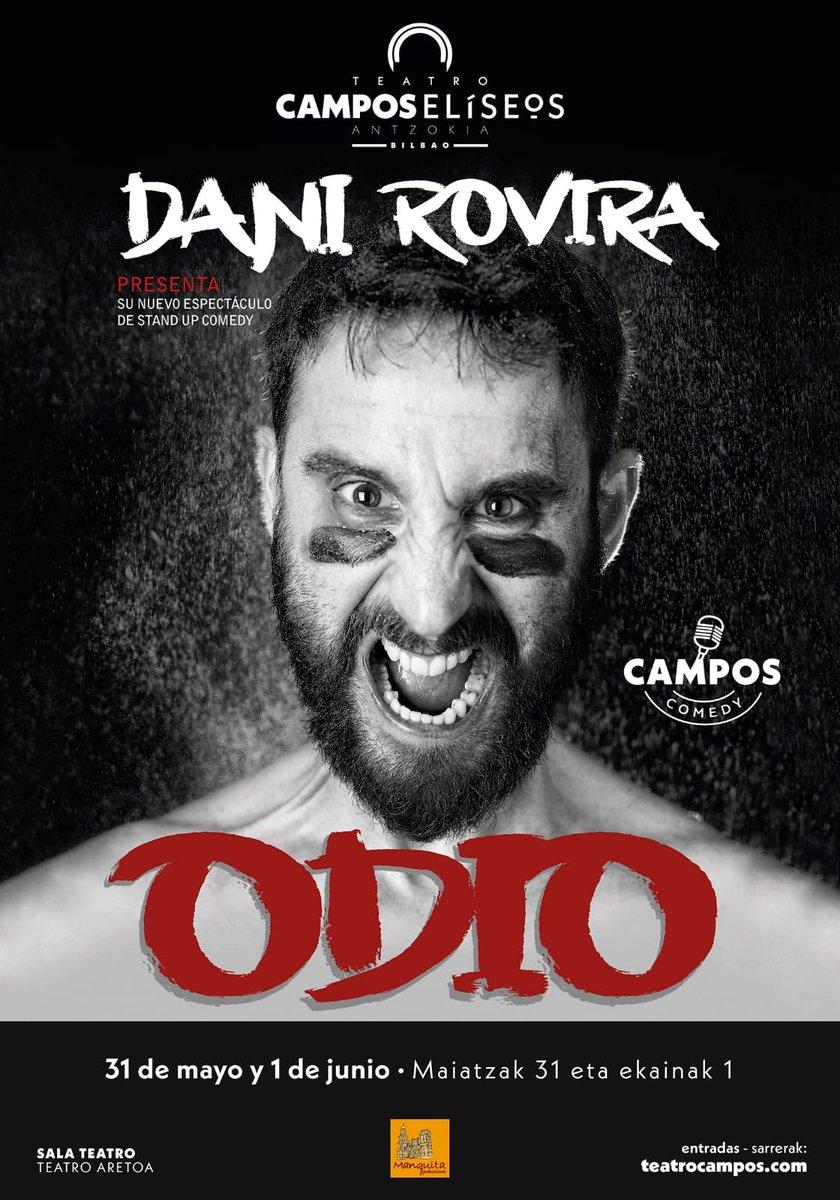 Dani Rovira en el cartel de ODIO