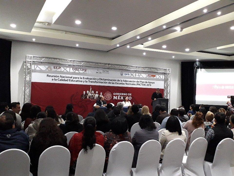 Desde la Reunión Nacional para la Evaluación y Dictaminación de la Adecuación del Plan de Apoyo a la Calidad Educativa y la Transformación de las Escuelas Normales