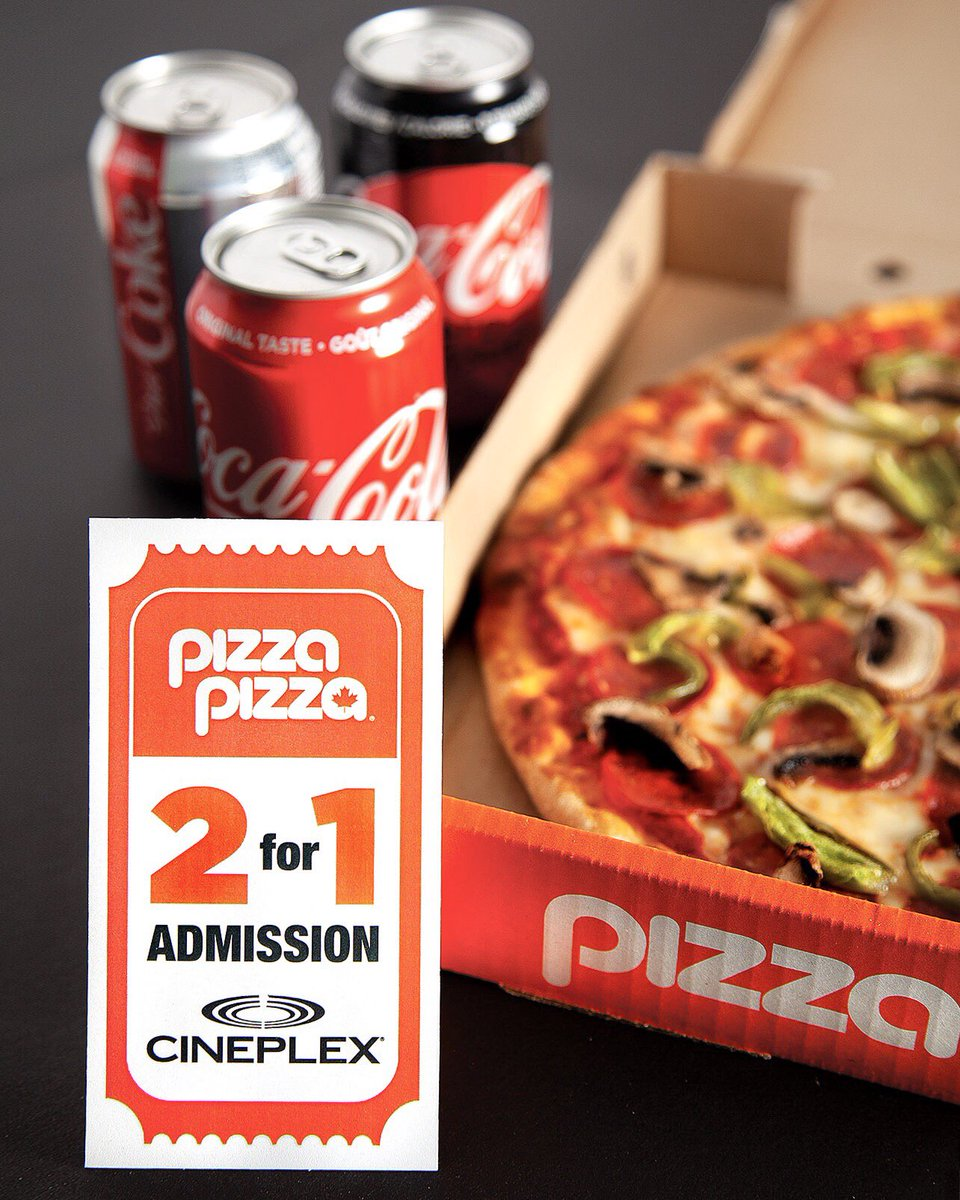 Hellooo movie buffs, DINNER & MOVIE IS BACK. Get a 2 for 1 @CineplexMovies admission with our dinner and movie deal 🎥🍕