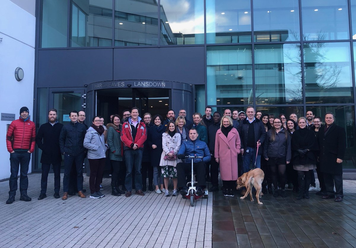 Despite the rain, we enjoyed a lunchtime Walk and Talk around #Bristol harbour for #TimetoTalk Day. We were joined by CEO Chris Hill and directors @Heather66182793, David Davies and Lee Gardhouse, showing their support for more open #mentalhealth conversations in the workplace.