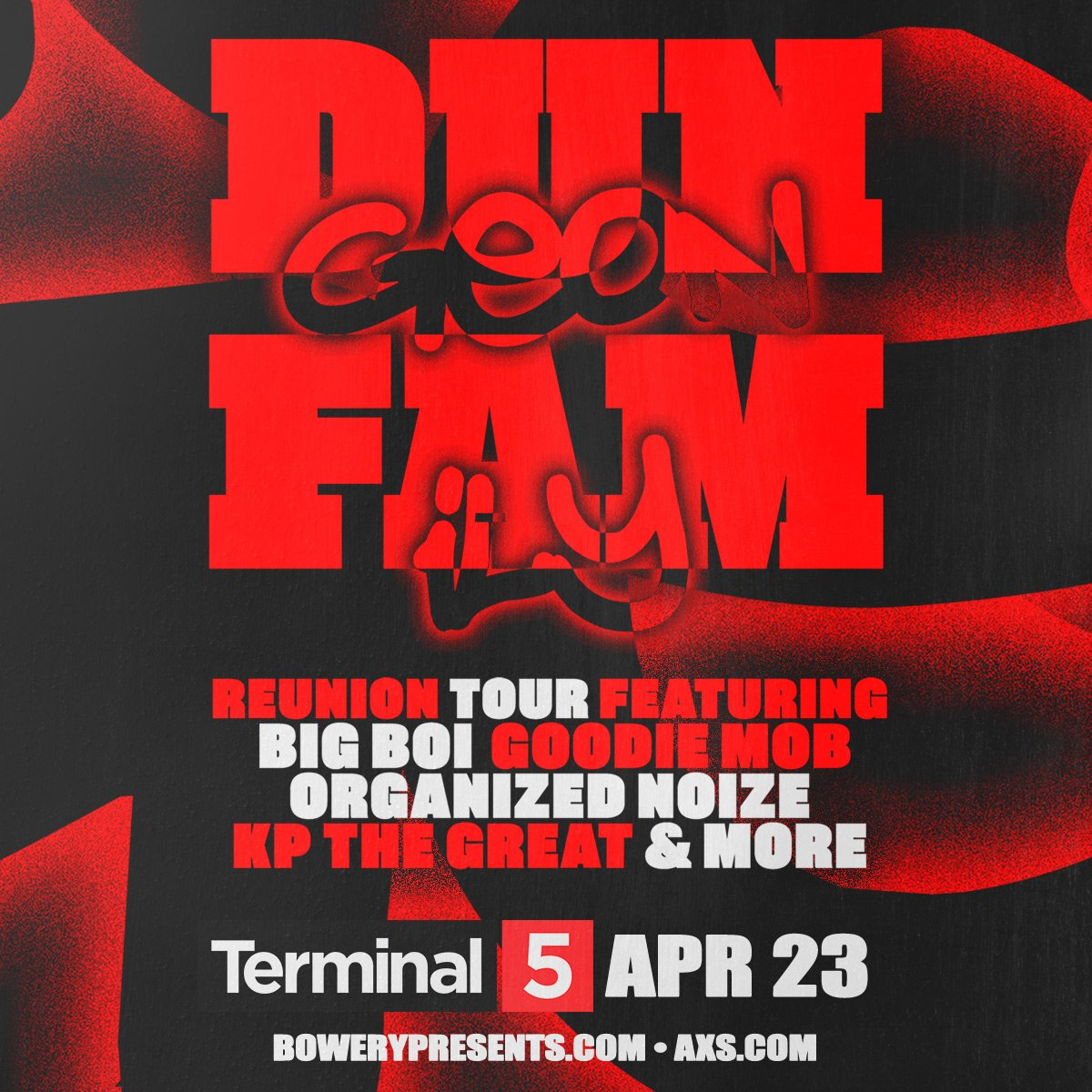 ON SALE NOW: Dungeon Family Tour 2019 ft. @BigBoi, @goodiemob, @organizednoize, @KawanPrather, and more ON 4/23 + @the_prodigy on 5/16 🖤 >>