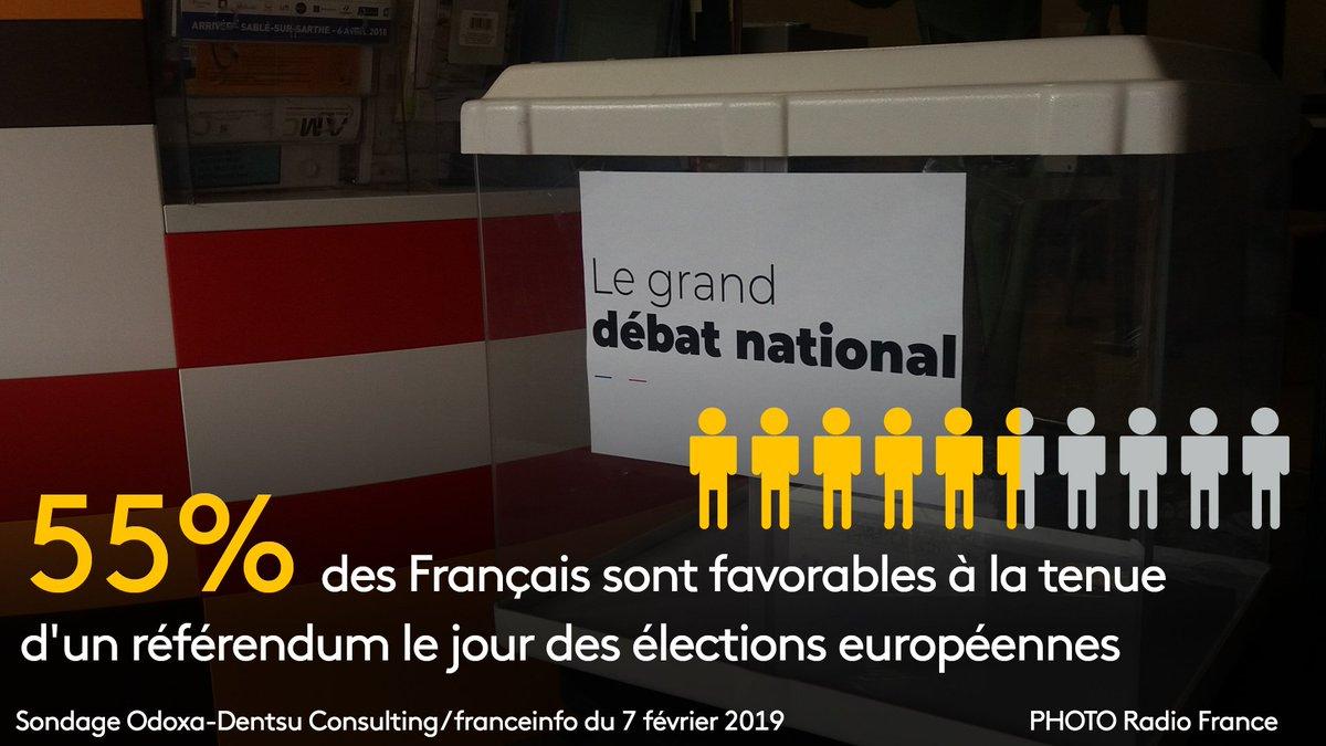 Référendum le jour des élections européennes: 55% des Français y sont favorables, selon un sondage  https://www.francetvinfo.fr/economie/transports/gilets-jaunes/referendum-le-jour-des-elections-europeennes-55-des-francais-y-sont-favorables-selon-un-sondage_3179761.html…