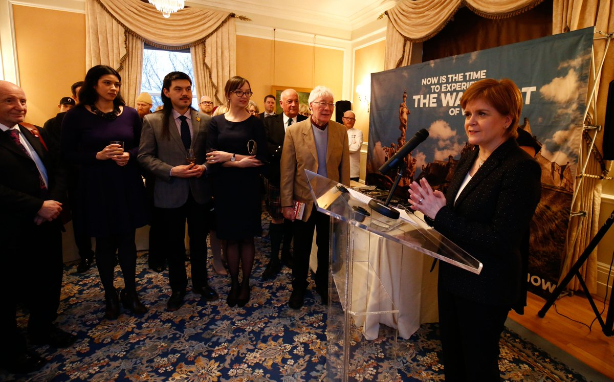 First Minister @NicolaSturgeon officially launched our new office in Ottawa this evening at a #ScotlandisNow reception showcasing Scottish food and drink.
