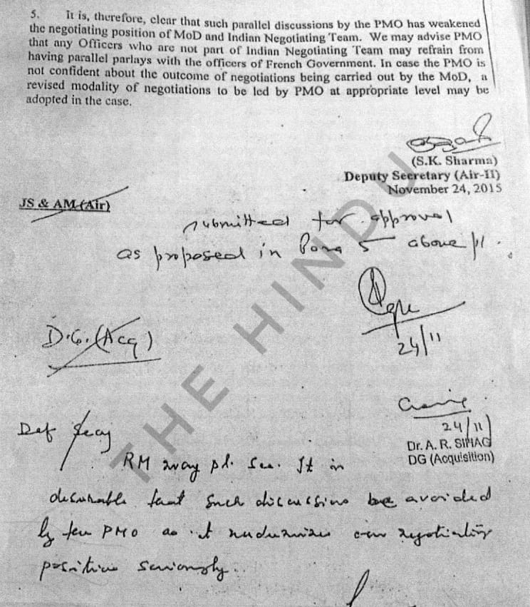 Exclusive: The Defence Ministry had protested against PMO undermining #Rafale negotiations, reports @nramind #RafaleDeal https://www.thehindu.com/news/national/defence-ministry-protested-against-pmo-undermining-rafale-negotiations/article26207281.ece…