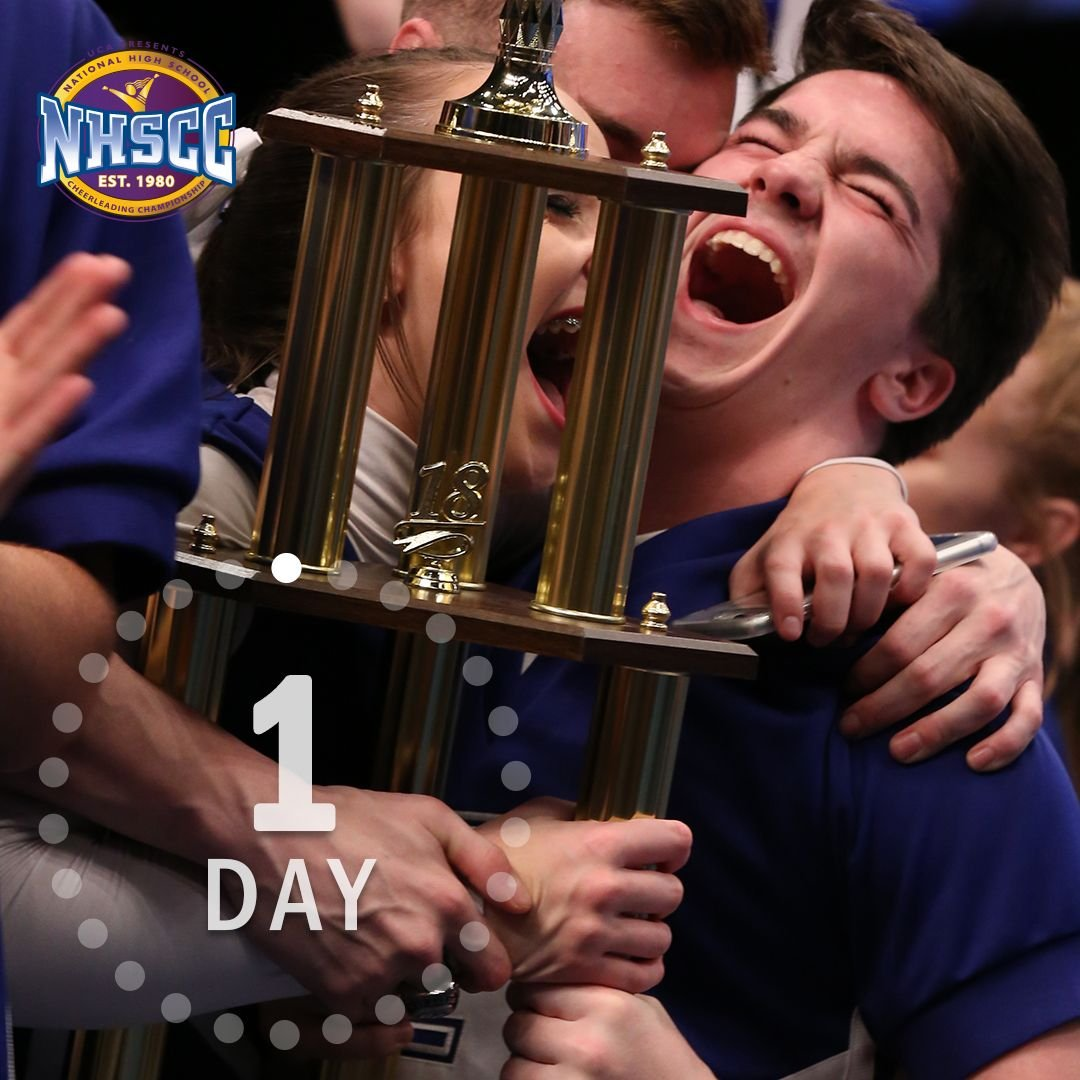 One more sleep until #UCAnationals! We'll be dreaming of white jackets and trophies tonight! 🏆