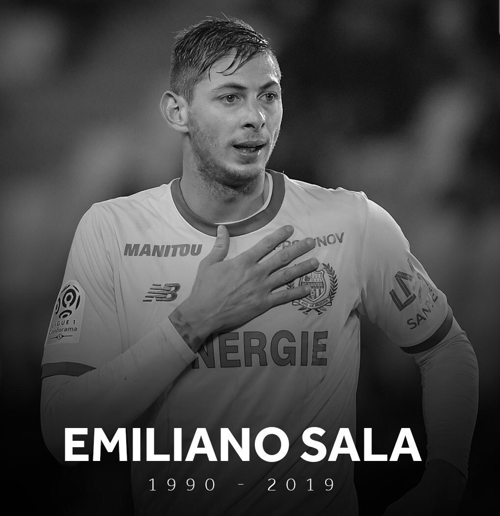 No words to describe how sad this is. 😪 Thoughts and prayers go out to his family and also to the family of the pilot. ❤🙏🏼 #RIPsala