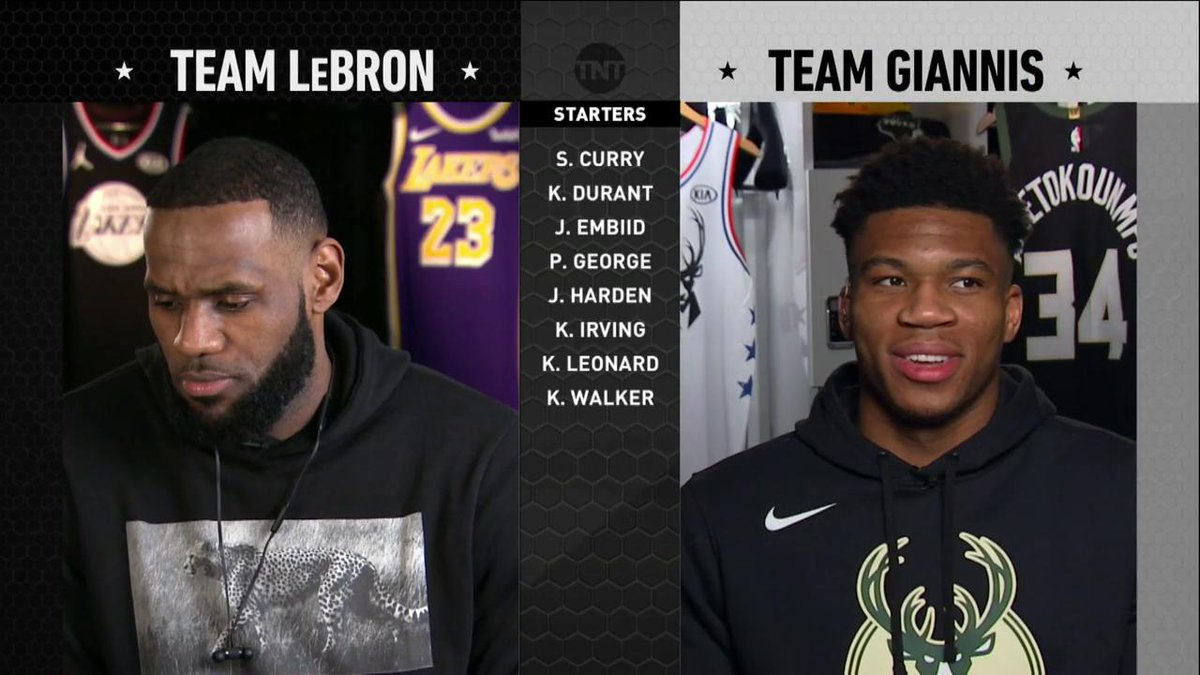 """So the Golden State Boys are off the board"" 😂  LeBron & Giannis take their picks! #NBAAllStarDraft"