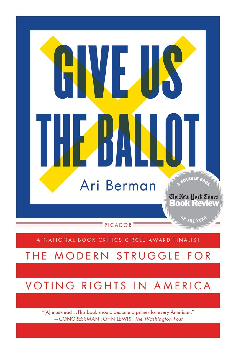 Glad you asked. I am snowed in in MN and reading GIVE US THE BALLOT by @AriBerman . I recommend it all the time but never took the time to read it. Honestly, afraid it would make me mad . It does but it is so interesting.