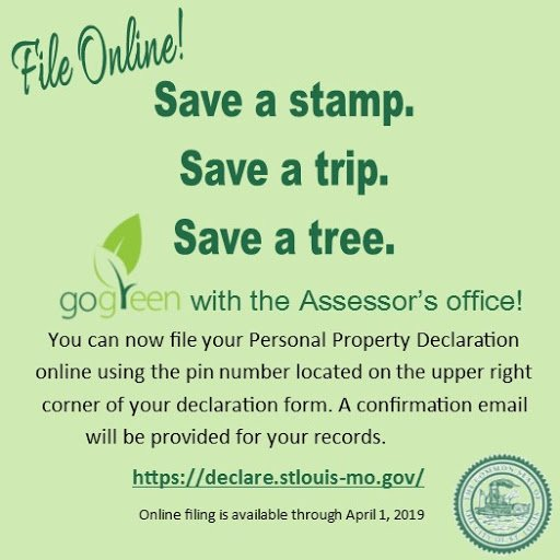 To Declare Their Personal Property Ta Online For The First Time That S 2750 City Residents Have Saved In Postage Http Www Stlouis Mo Gov