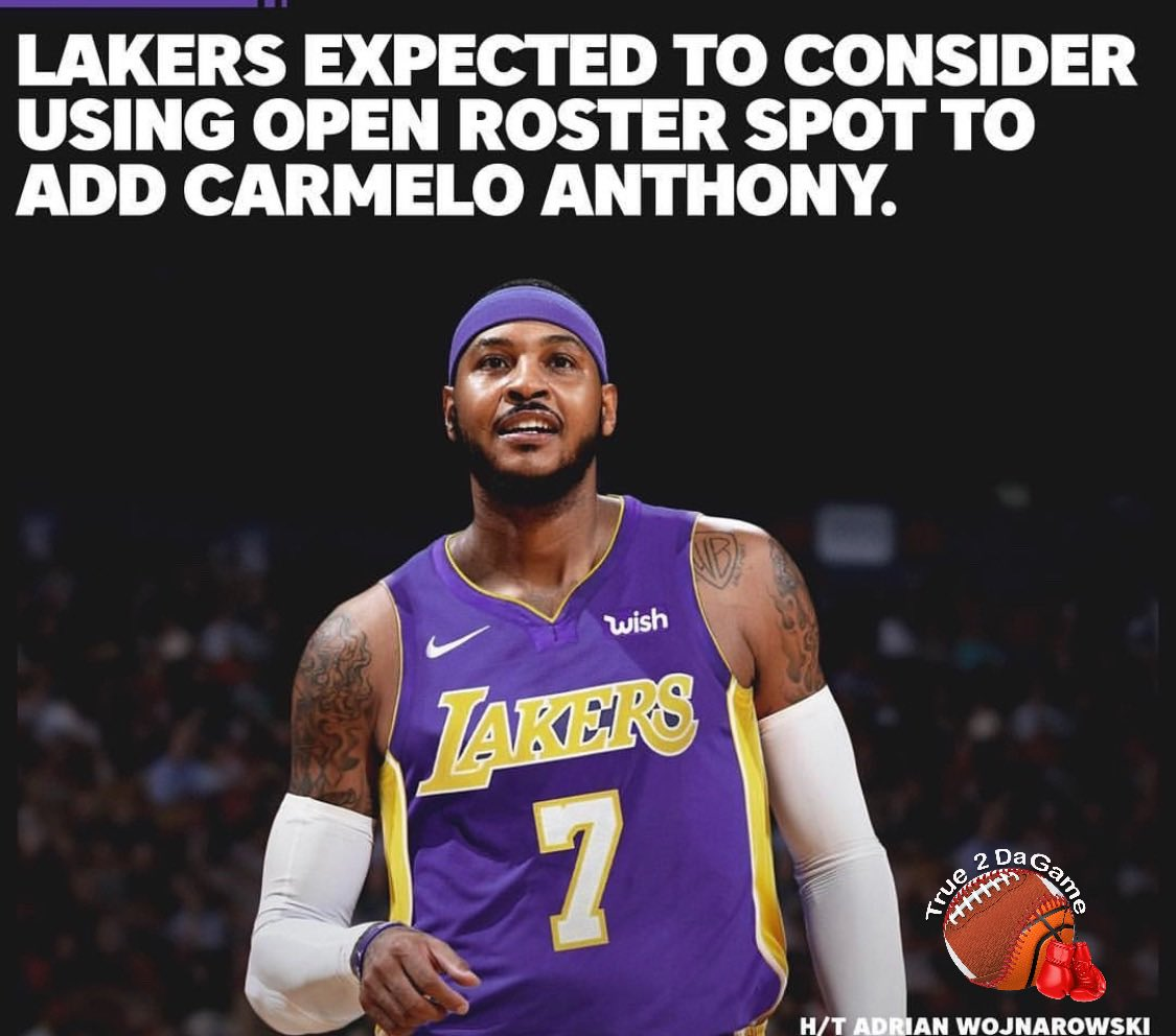 Would it be smart for the @Lakers to sign @carmeloanthony ?🤔 #LakeShow #NBA #NBAAllStar #NBAonTNT (via @theScore )  https://www.true2dagame.com/nbabasketball