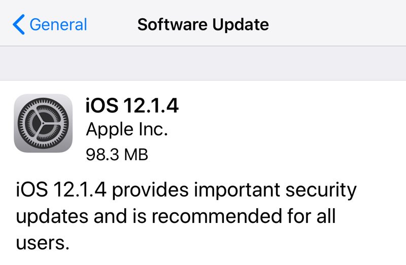 iOS 12.1.4 Update Now Available – Fixes Group FaceTime and Newly Discovered Live Photos Vulnerabilities #AppleNews  https://t.co/z8yIHyafd2