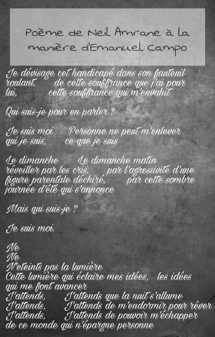 La 6t Poétique On Twitter Poème De Neil Amrane à La