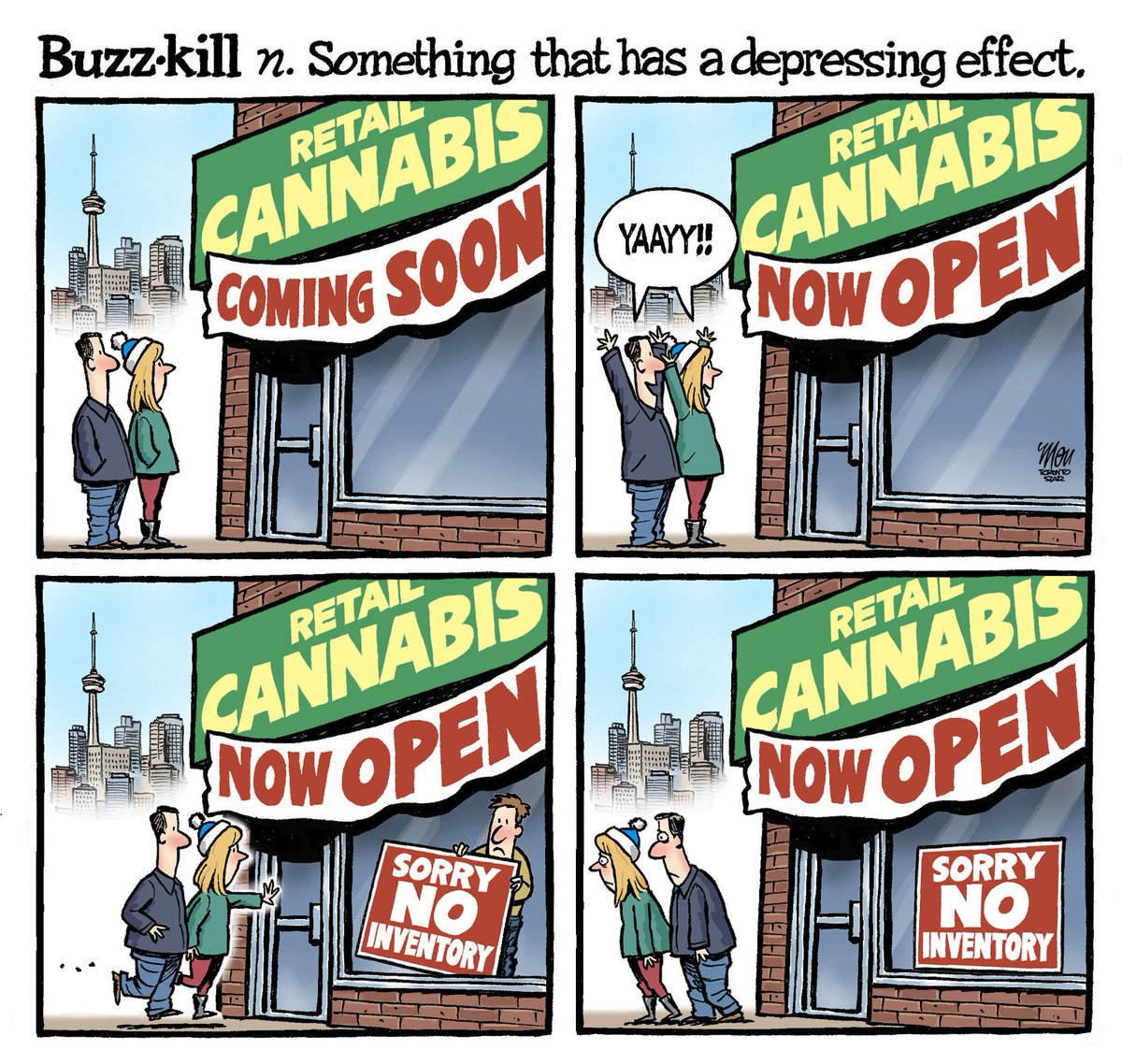 Here's Friday's #cannabiscanada cartoon in @TorontoStar