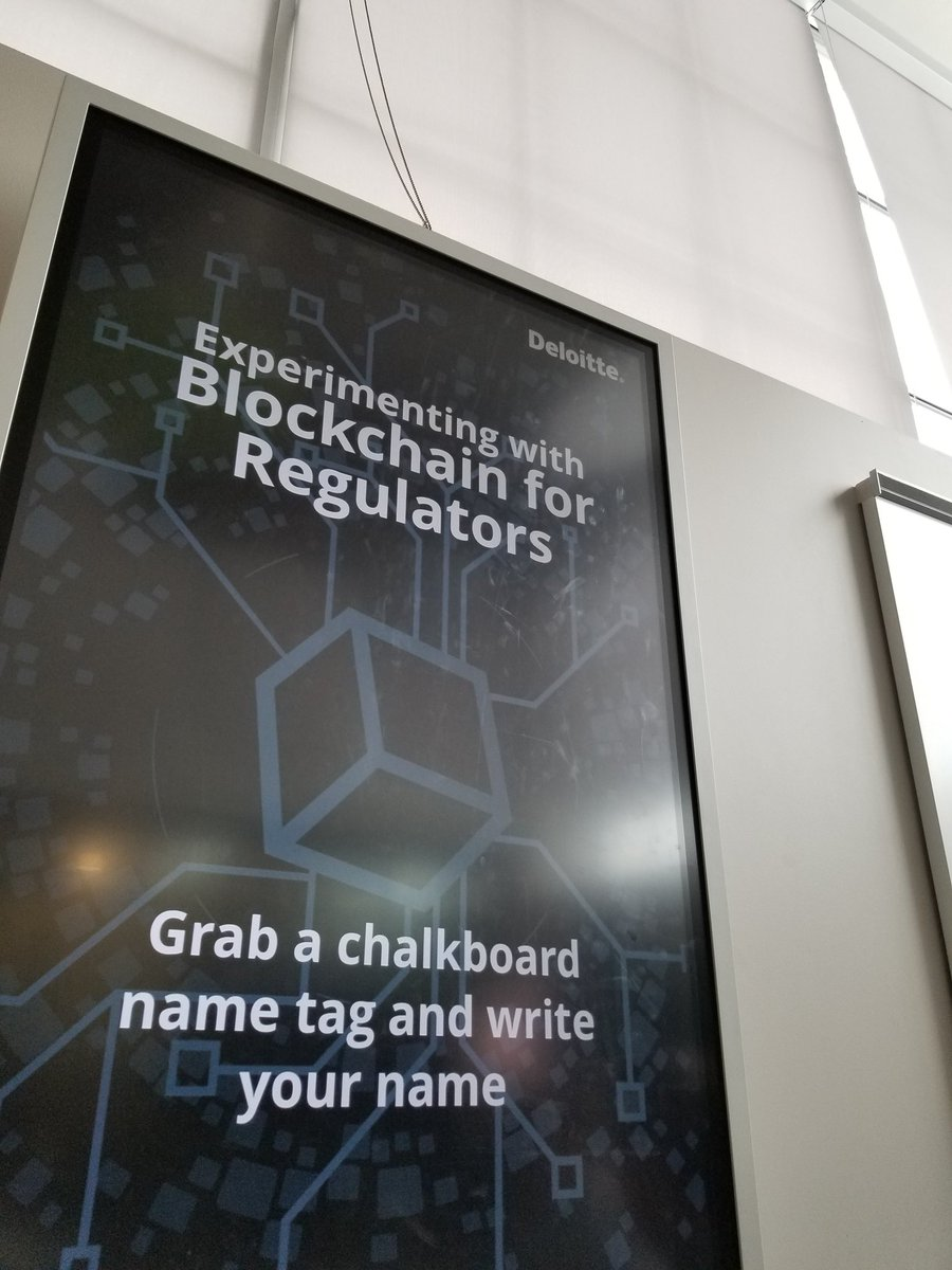I'm having lots of fun at the @CFR_CRF Experimenting with Blockchain for Regulators at @Bayview_Yards. Thanks to @Ikonomi for the opportunity!