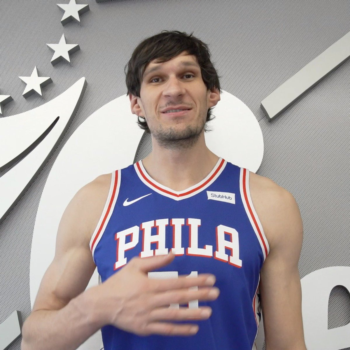 Philly! @BobanMarjanovic has a message for you. #HereTheyCome