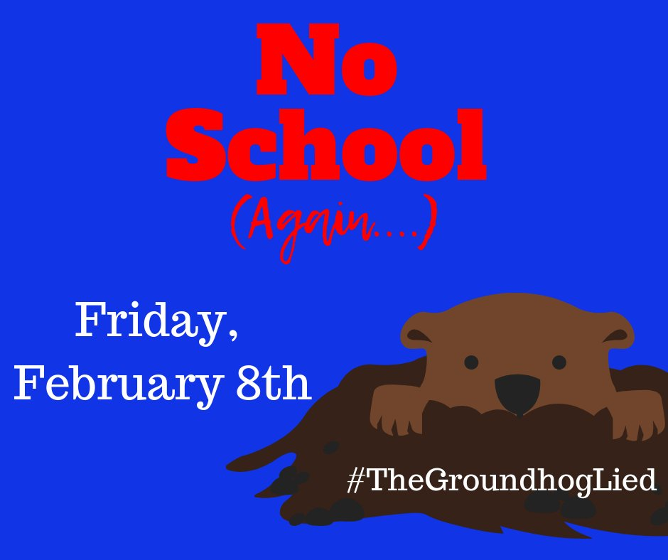 No school tomorrow, Friday 2/8. Stay warm and safe.  We look forward to seeing all of our Cardinals again on Monday. @HenryElementary @CIScards345 @CMSCardinals @CHSCards @ClintonTechSch  #CardinalPride #TheGroundhogLied