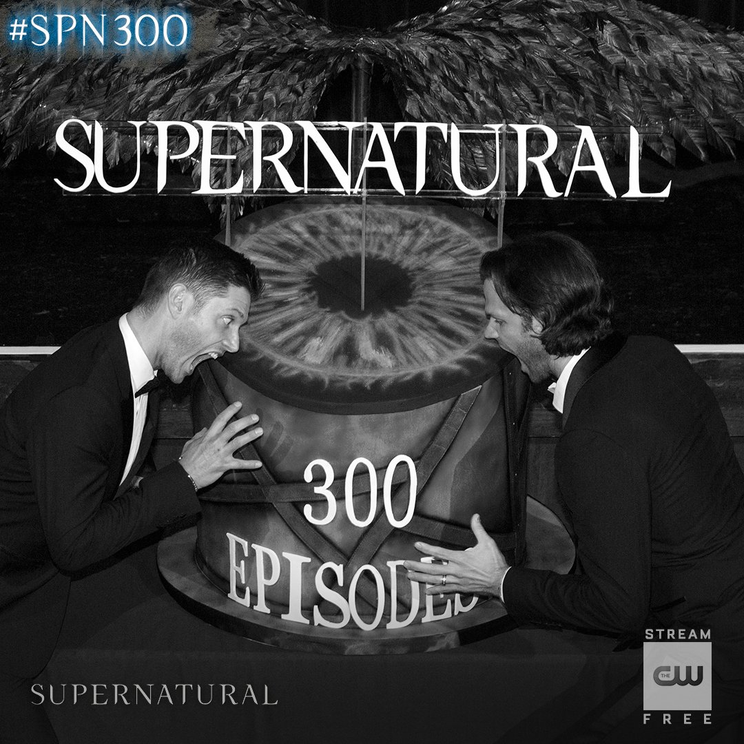 Thank you for your support, #SPNFamily. Watch the 300th episode of #Supernatural TONIGHT at 8/7c. #SPN300