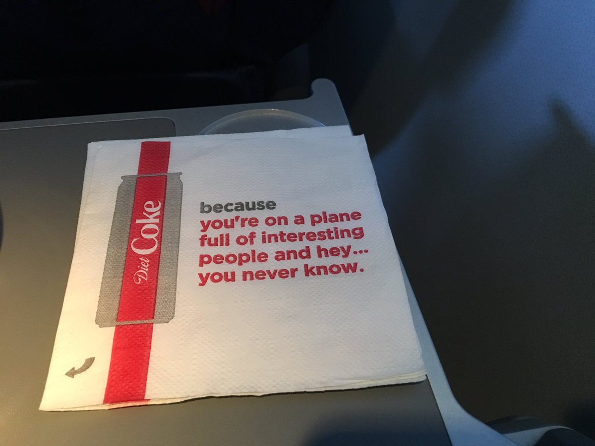 """Delta and Coke apologize for napkins encouraging passengers to shoot their shot with a """"plane crush."""" https://trib.al/Y8dgKVs"""