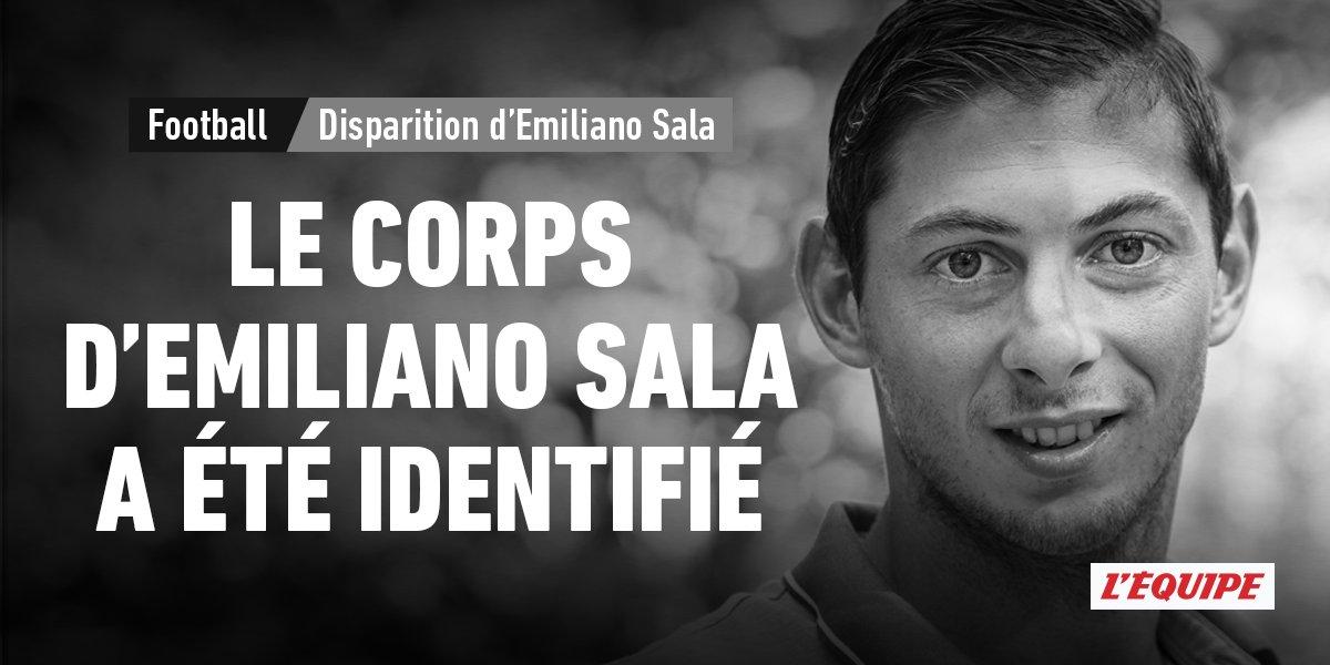 Le corps repêché ce mercredi est celui d'Emiliano Sala, l'ex-attaquant du FC Nantes. L'Argentin était âgé de 28 ans. https://t.co/ixvfCf2ao2 https://t.co/fgnnZISil4