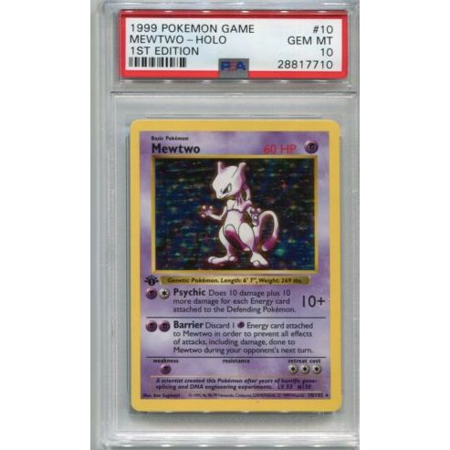 Yesterday marked Mewtwo's birthday – 20 years of a Pokémon fan favorite! Here's an ultra-rare card for the ultimate collector. Gotta catch 'em all. https://ebay.to/2Ggp3g2