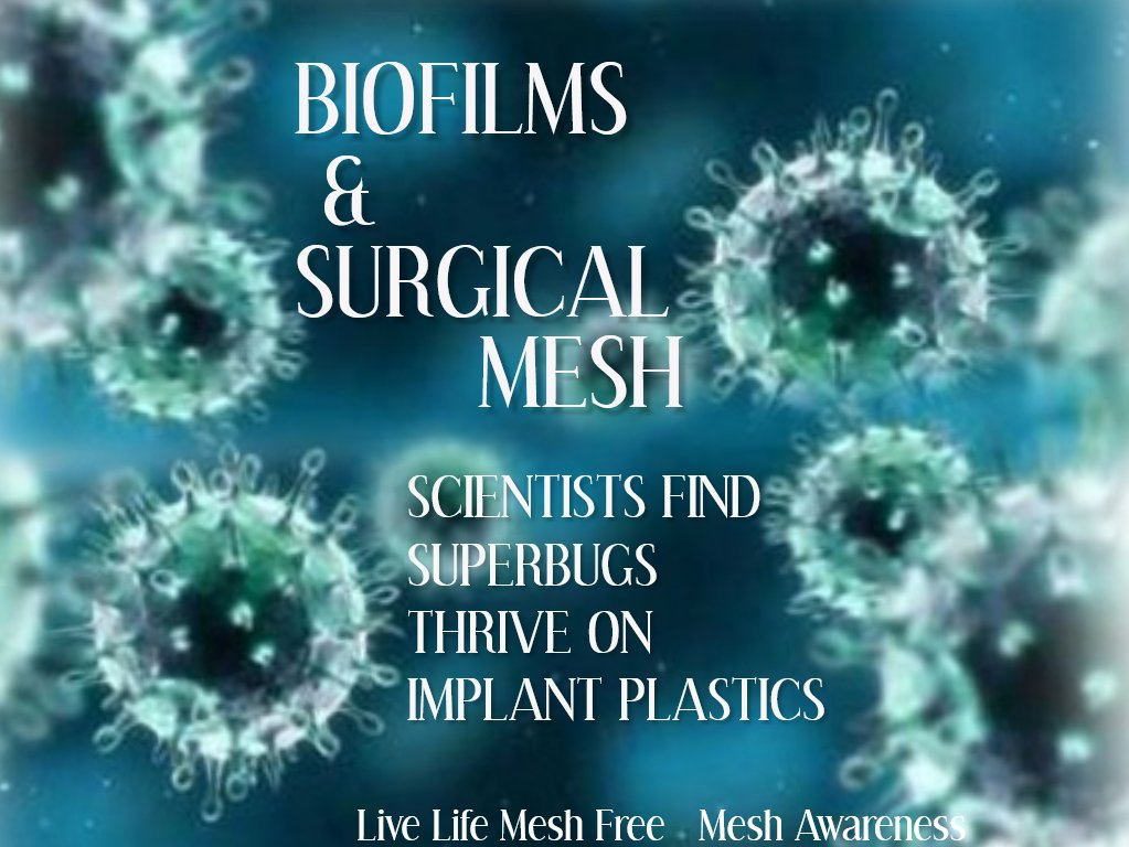 Millions #Worldwide have been permanently embedded with permanent #SurgicalMesh Implants made of #Plastic that is #Biochemically treated. No matter what #Mesh is dipped, layered, injected, coated with it will always be a piece of #Toxic #Plastic The Power of Death #BanAllMesh