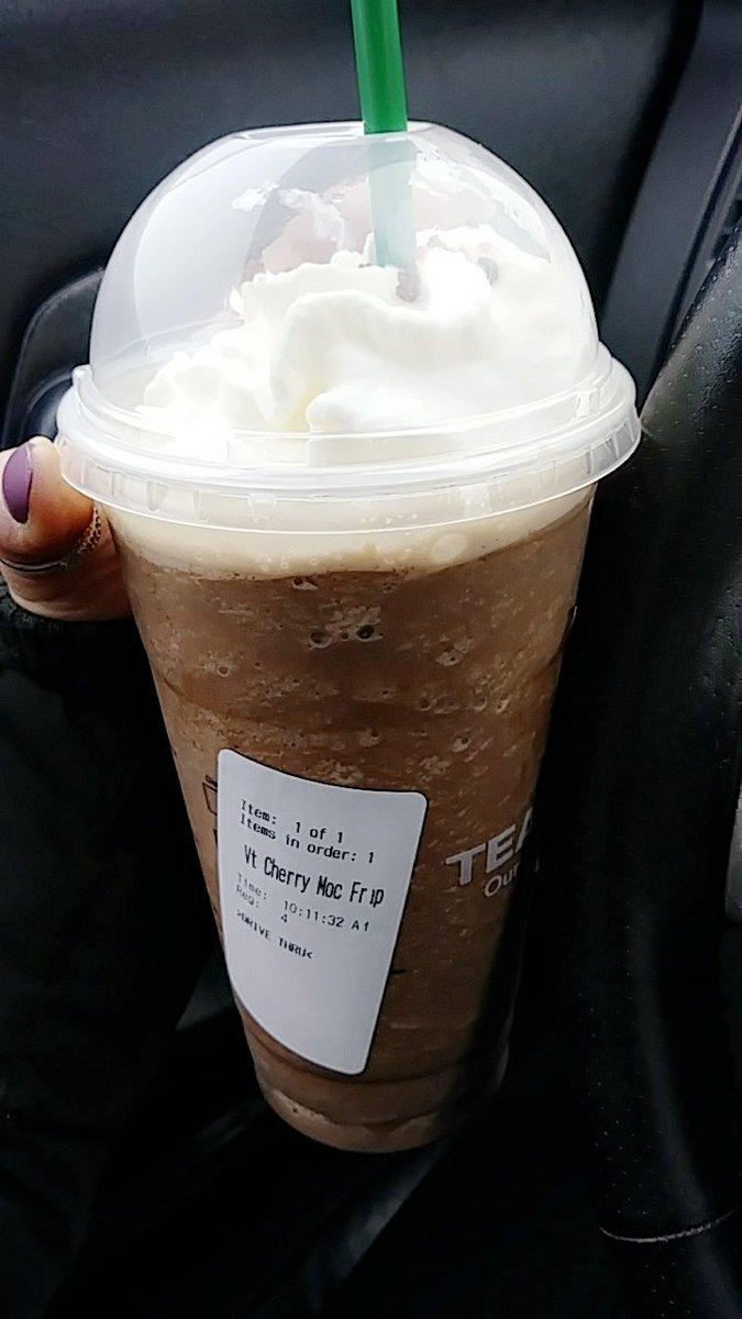 Had one this morning... It was legit #starbucks #cherrymocha #frappyhour<br>http://pic.twitter.com/RBipi6y4yX