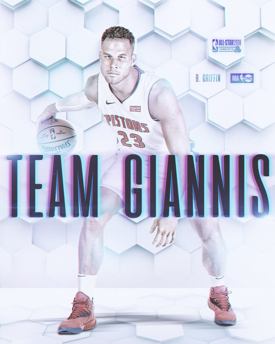 .@blakegriffin23 is joining #TeamGiannis!  #NBAAllStarDraft