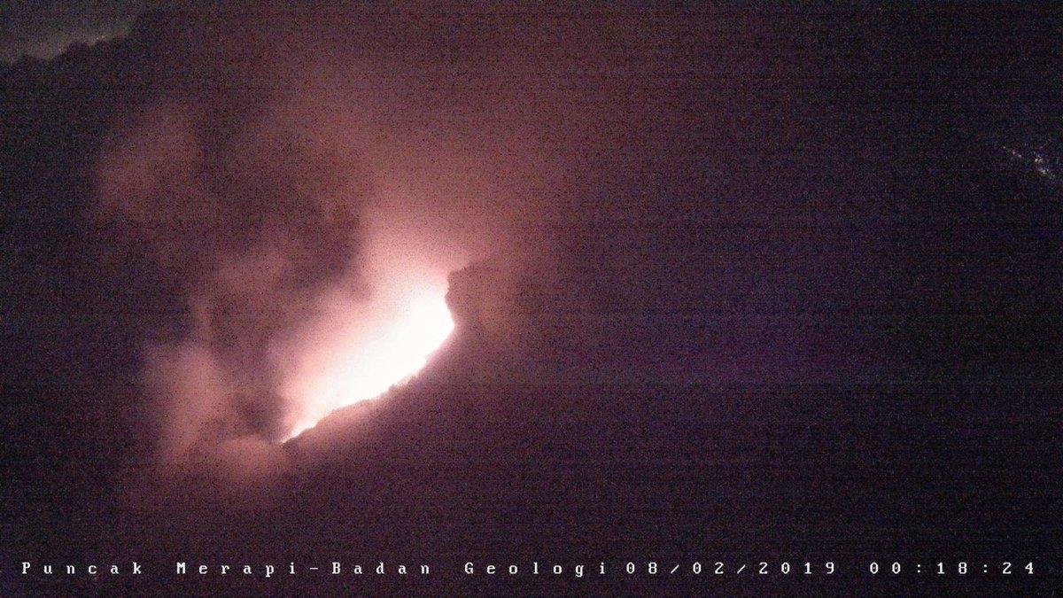 Guguran Lava Gunung Merapi Mengarah ke Kali Gendol, Jarak Luncur 200 Hingga 750 Meter