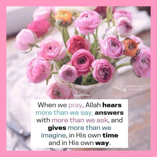 So, never stop praying, Allah always listens. ❤️