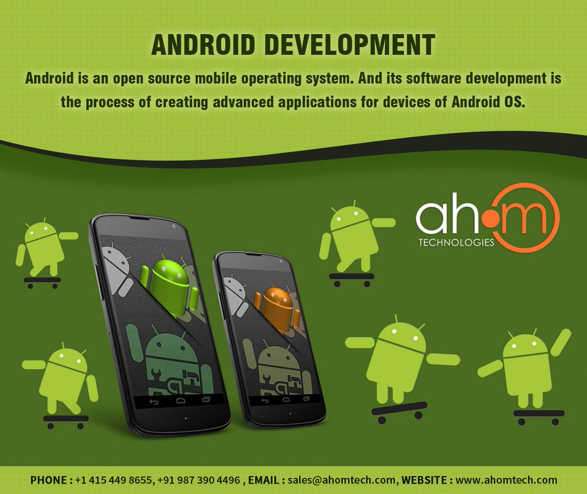 Android apps can be written using Java or Kotlin languages and by the  help of the Android software development kit (SDK).  Read More at : https://www.ahomtech.com/android-development-services-india/… #Android #AndroidDevelopment #Technology #AndroidApps #MobileAppDevelopment #MobileTechnology #Ahom #AhomTech