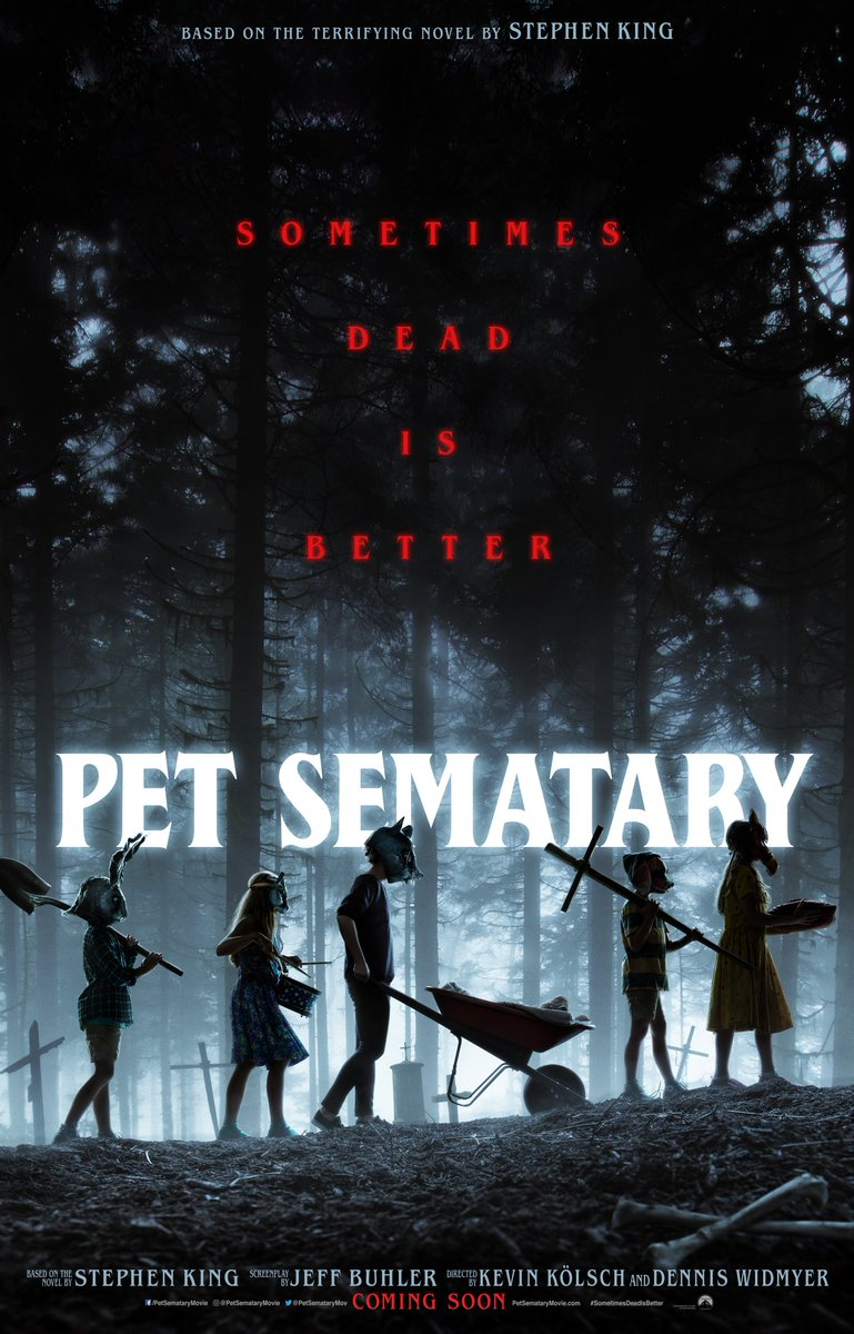 Super excited to share this new poster for #PetSematary that I had the privilege of designing!  Can&#39;t wait to see it on the big screen! @starryguys @StephenKing<br>http://pic.twitter.com/fpexUZZkAS