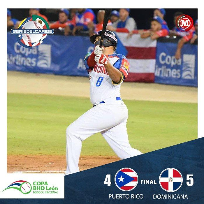#MarcadorSC19 La República Dominicana 🇩🇴 dejó en el terreno a Puerto Rico y se lleva una importante victoria para colocar su récord en (2-1).