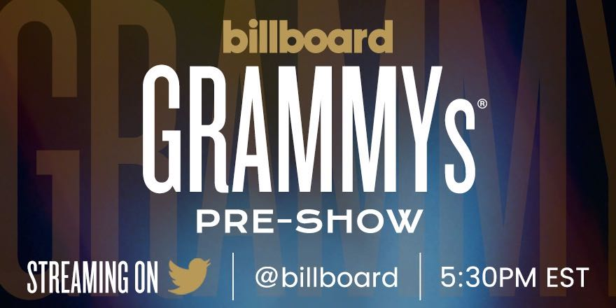 Don't miss the #GRAMMYs #BillboardPreShow!  📅: Sunday, Feb 10 🕐: 5:30pm EST 📍: Twitter