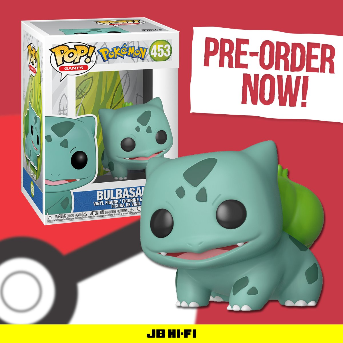 1c223715 Now you can pre-order Bulbasaur, everyone's favourite grass starter and add  him to your Pokedex/POP! Vinyl collection! http://bit.ly/2DgtS4U OUT May ...