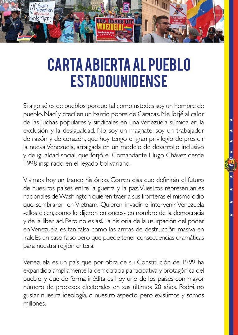 Maduro: Si algo me pasa, ¡retomen el poder y hagan una revolución más radical! - Página 7 Dy2Jl9gX4AsMhJC