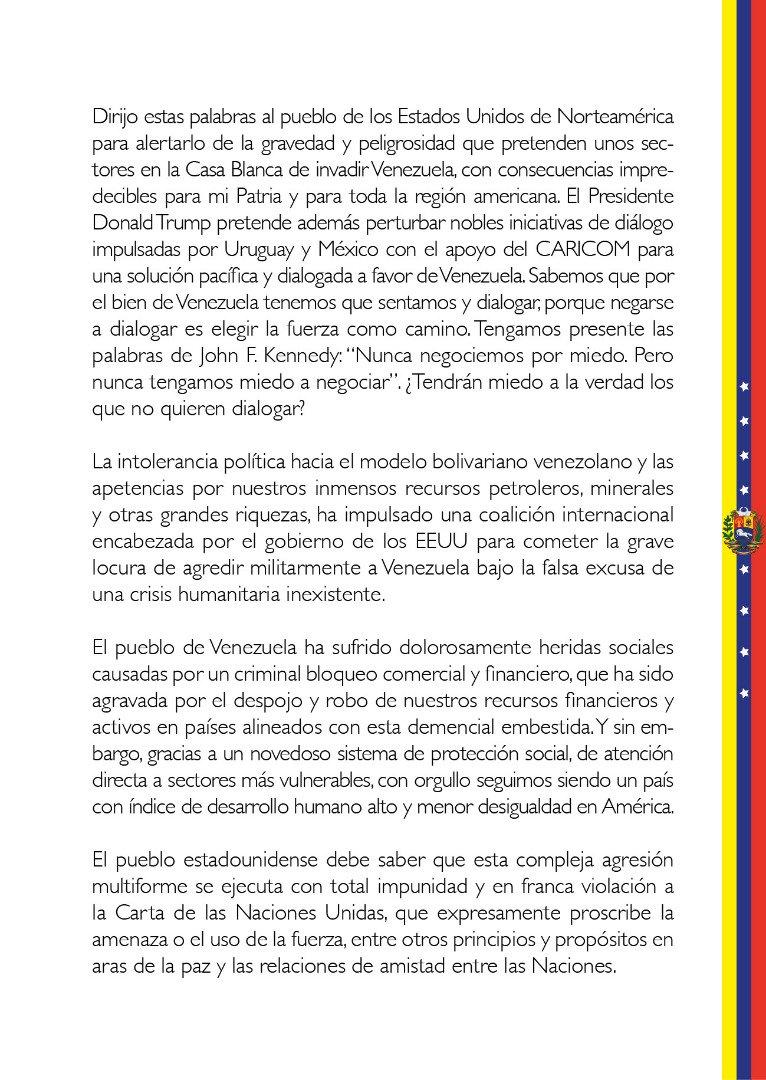 Maduro: Si algo me pasa, ¡retomen el poder y hagan una revolución más radical! - Página 7 Dy2Jmc4WoAUvcnR